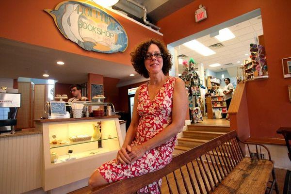 Dolphin Bookshop owner Patricia Vunk has won a