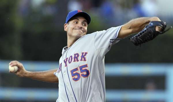 Mets starter Chris Young pitches to the Los