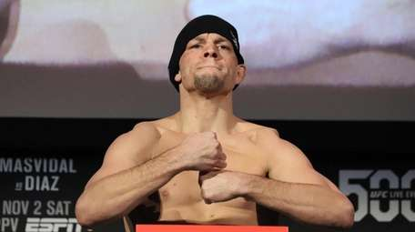 Nate Diaz appears at the UFC 244 ceremonial