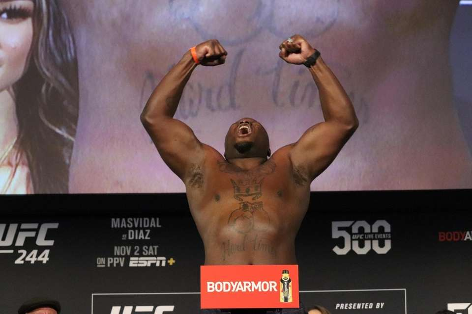Derrick Lewis appears at the UFC 244 ceremonial