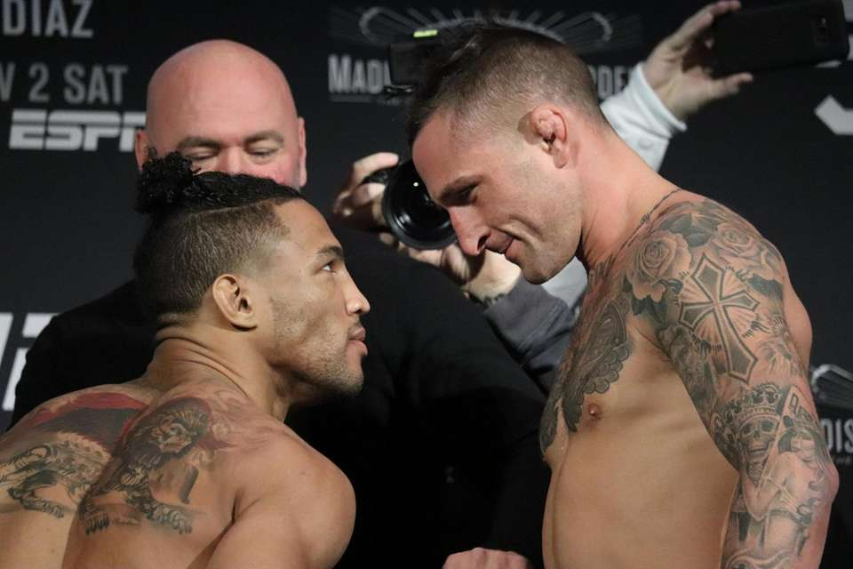 Kevin Lee and Gregor Gillespie appear at the
