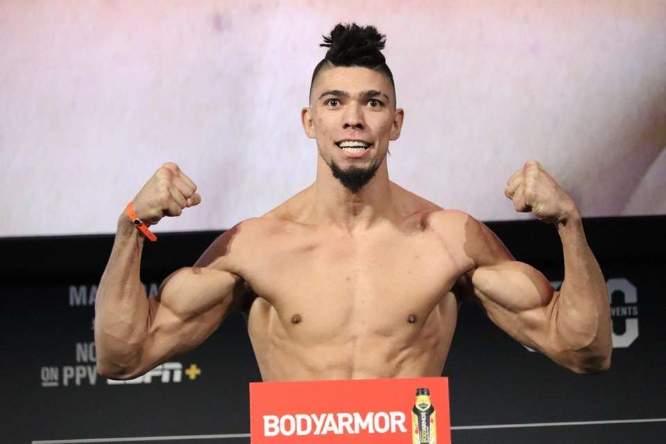 Johnny Walker appears at the UFC 244 ceremonial