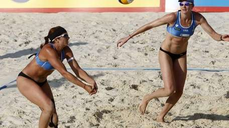 The United States Misty May-Treanor, left, and Kerri