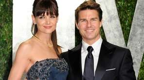 Katie Holmes and Tom Cruise arrive at the