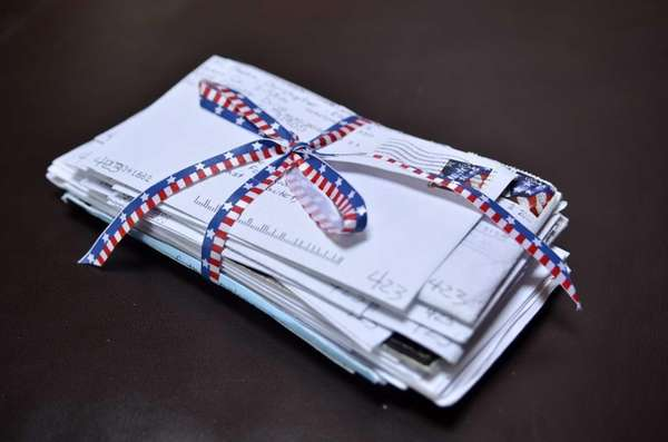 Letters sent by Army Specialist Chris Mazza to