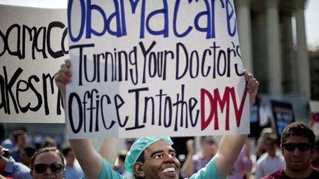 An opponent of President Barack Obama's health care