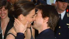Tom Cruise and Katie Holmes arrive at the