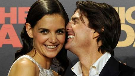 Tom Cruise and Katie Holmes on the red