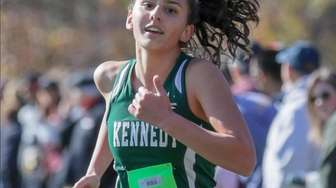 Marissa Spottiswood of Kennedy places second during the