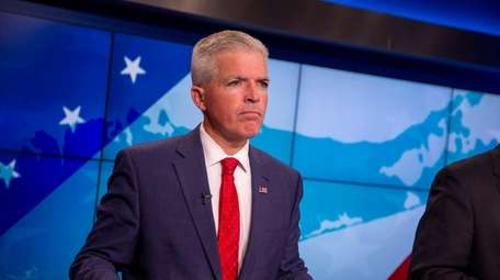 Suffolk County Executive candidate Steve Bellone debates at