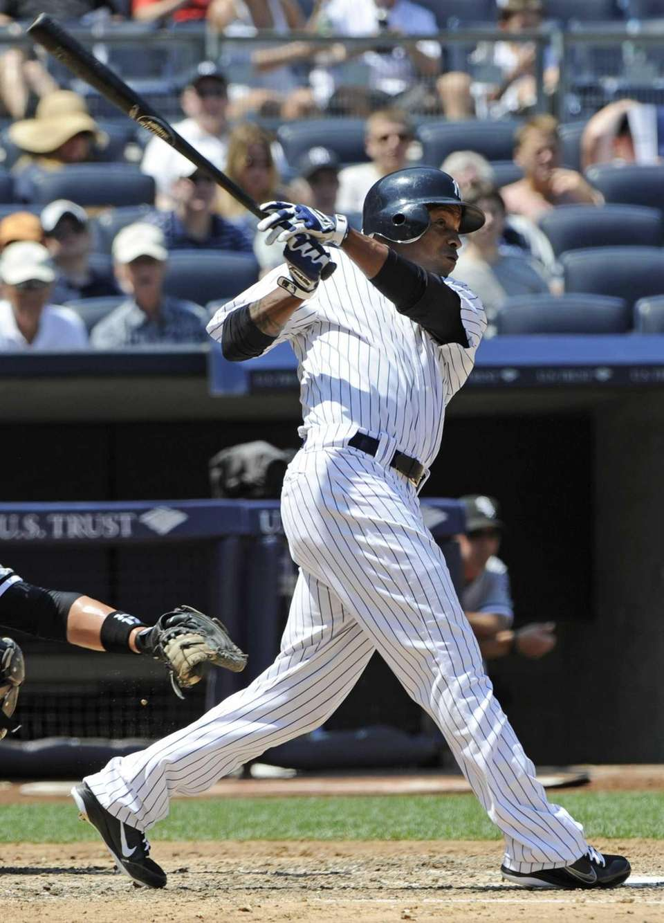 New York Yankees' Dewayne Wise hits a home