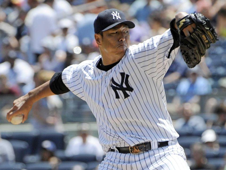 New York Yankees starter Hiroki Kuroda, of Japan,