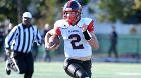 Daniel Villari, quarterback for Plainedge during game against
