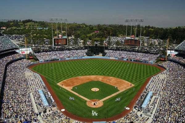 A general view field before the Los Angeles