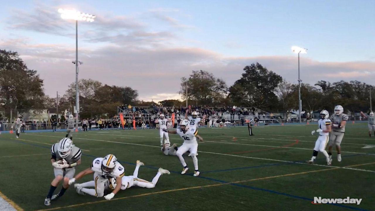 Thomas Schmitt caught the winning 19-yard touchdown from