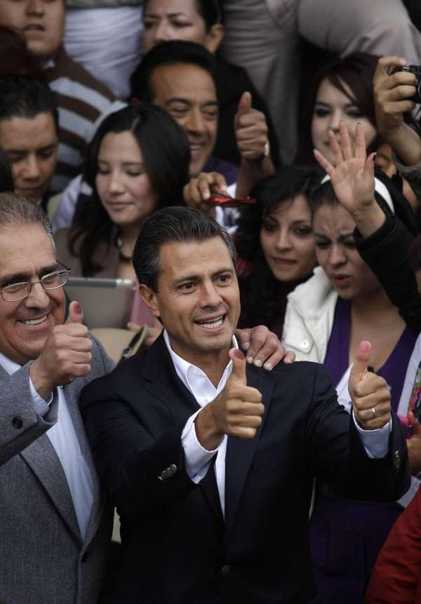 Enrique Pena Nieto, presidential candidate for the Revolutionary