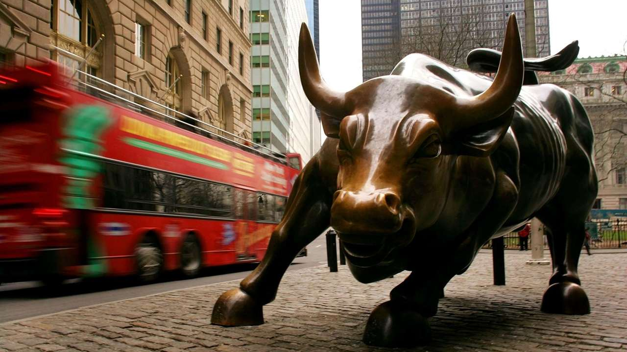 The Wall Street bull in Manhattan's financial district