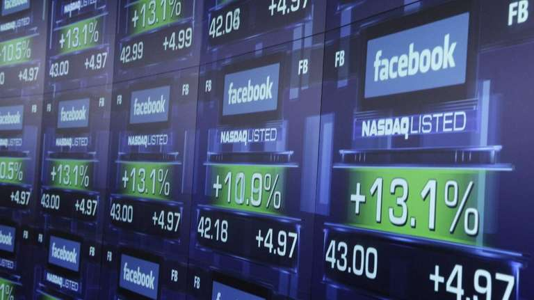 Facebook's stock had fallen sharply in the weeks