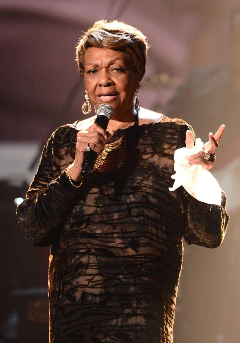 Cissy Houston performs onstage during the 2012 BET