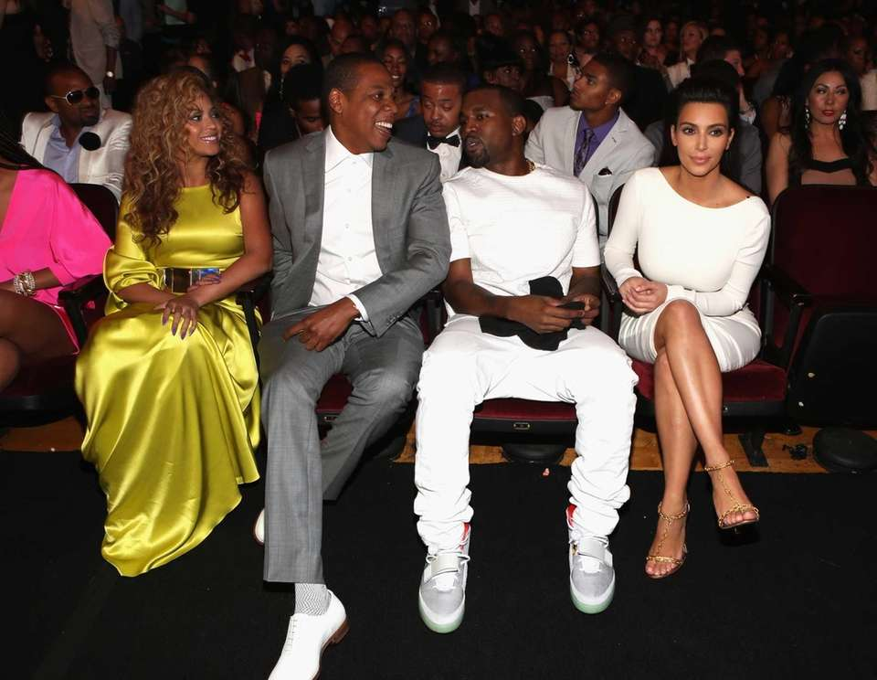 Singer Beyonce, rappers Jay-Z and Kanye West and