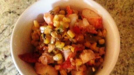 The roasted corn and lobster salad at Roast