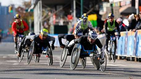 Competitors in the wheelchair division of the New