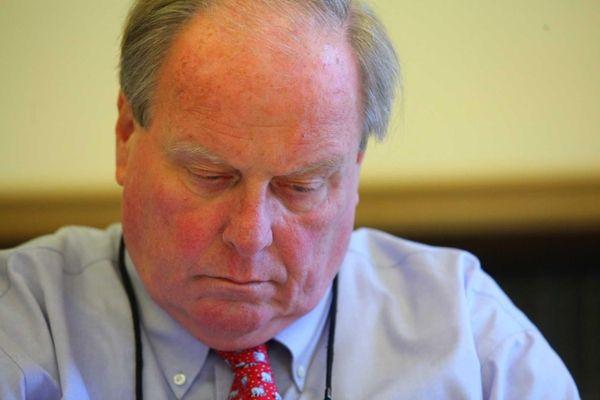 Nassau Legislator Peter Schmitt comments about being found