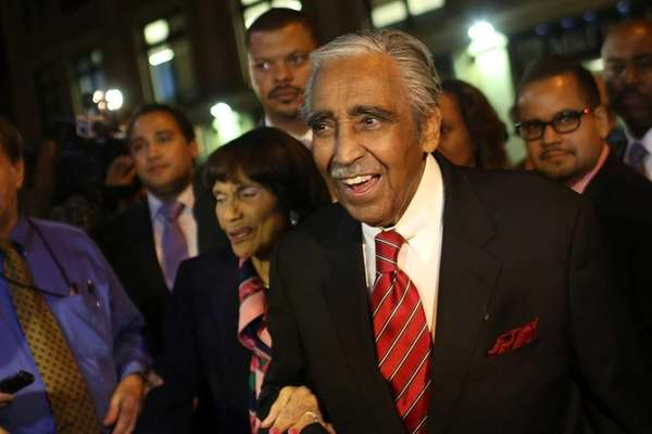 Charlie Rangel after winning re-election in New York