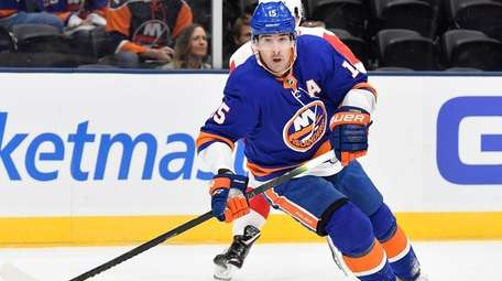 Cal Clutterbuck of the Islanders during the N.Y.