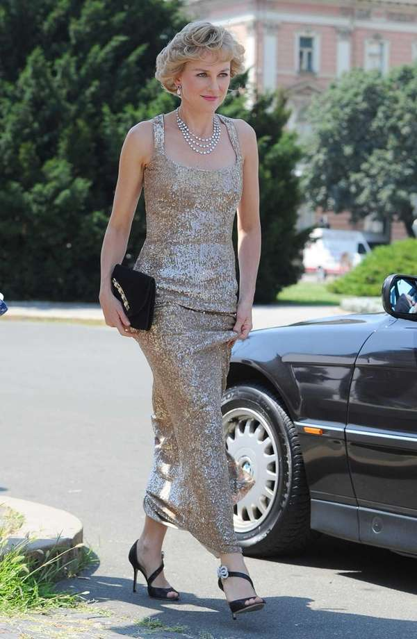 Actress Naomi Watts is seen portraying Princess Diana