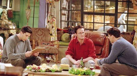 David Schwimmer, left, Matthew Perry and Matt LeBlanc
