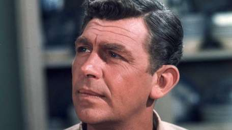 Actor Andy Griffith in his uniform as Sheriff