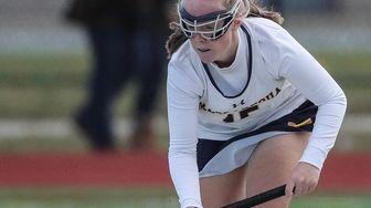 Massapequa's Megan Cook keeps the ball afloat during