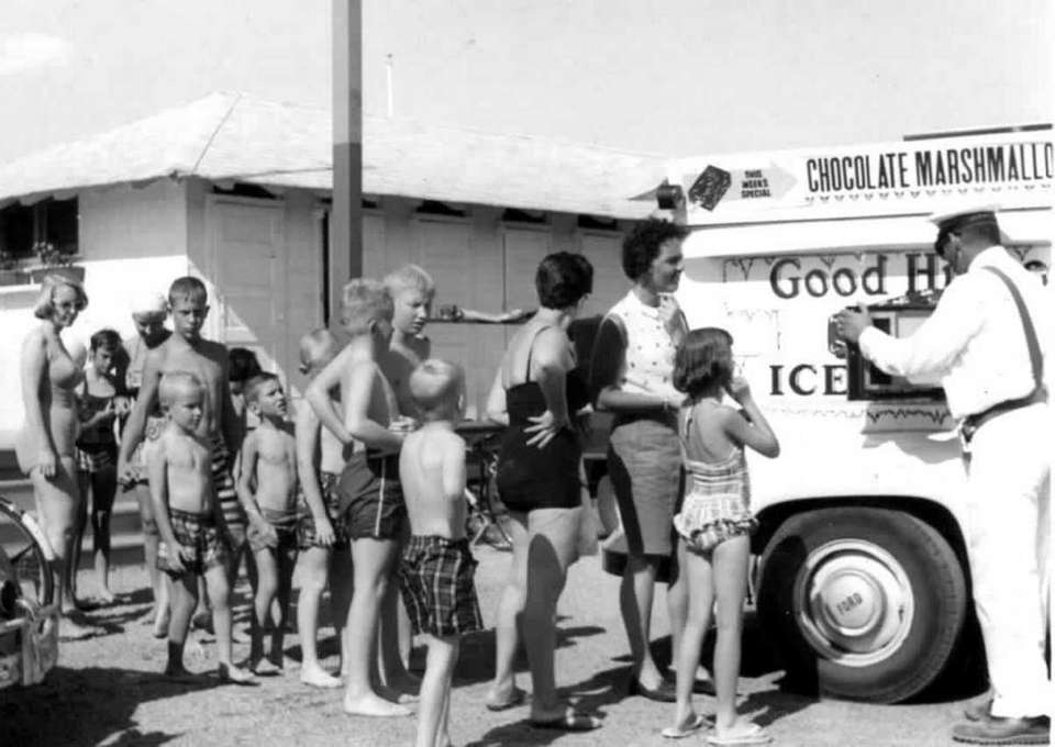 Children line up for the Good Humor Ice
