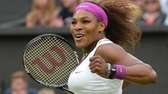 US player Serena Williams celebrates her women's singles