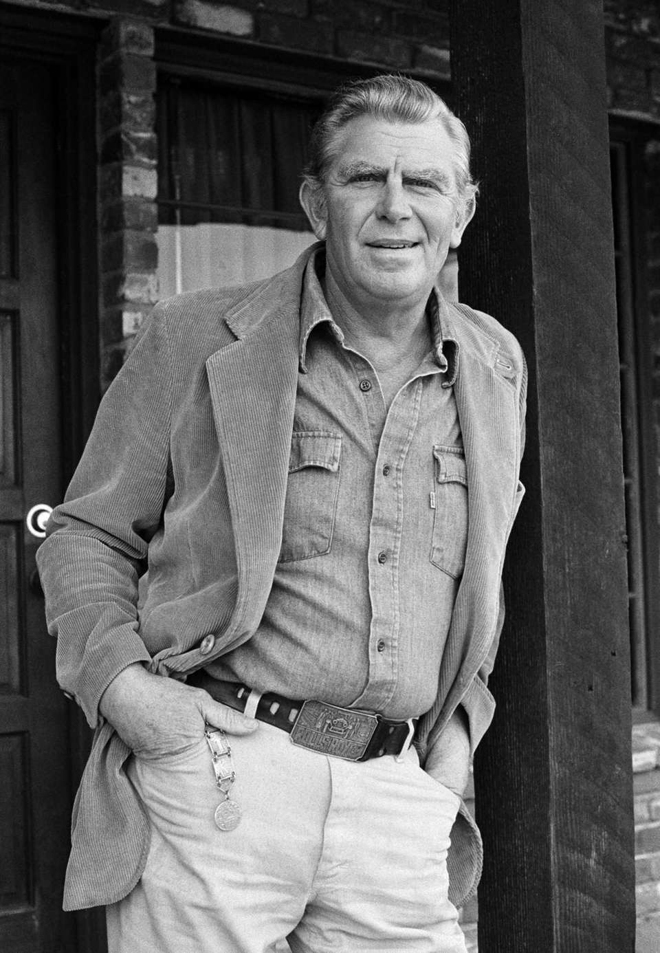 Actor Andy Griffith in Los Angeles, promoting the