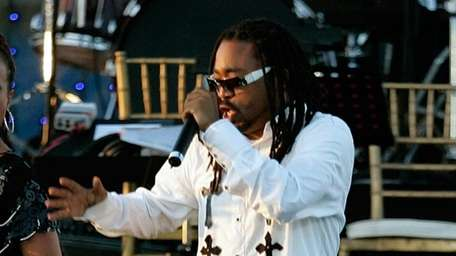 Singers Machel Montano performs during the opening ceremony