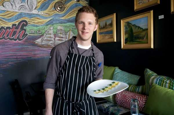 Executive chef Taylor Knapp pauses in the dining