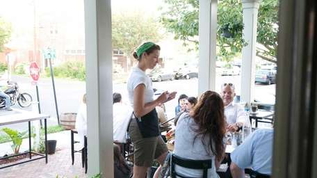 First and South offers outdoor dining on its