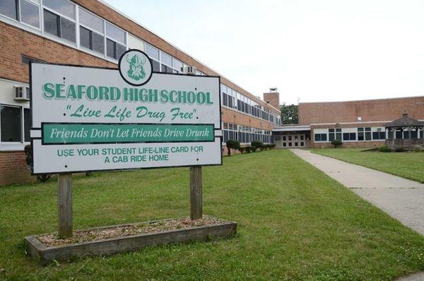 Seaford High School, at 1575 Seamans Neck Rd.
