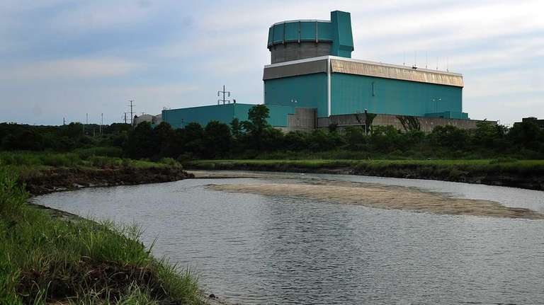 The decommissioned Shoreham Nuclear Power plant as seen