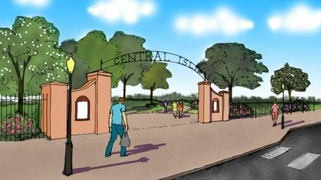 Artist renderings for a 20-acre park being planned