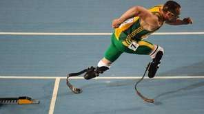 A file photo of South Africa's Oscar Pistorius.