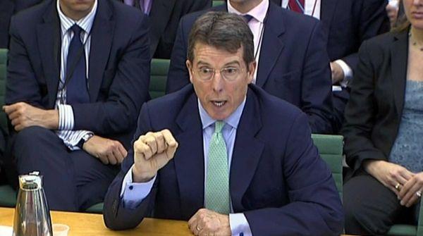 Former Barclays chief executive Bob Diamond gives evidence