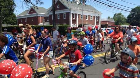 Southhold Village Fourth of July parade. The parade