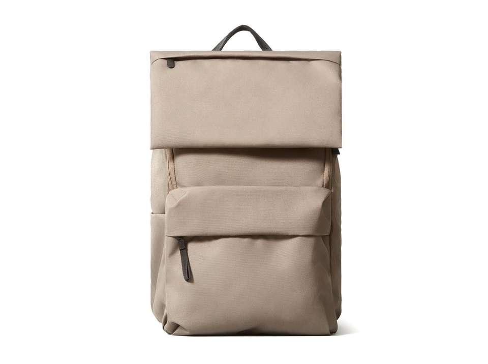 This water-resistant, travel-friendly backpack features a laptop pocket,