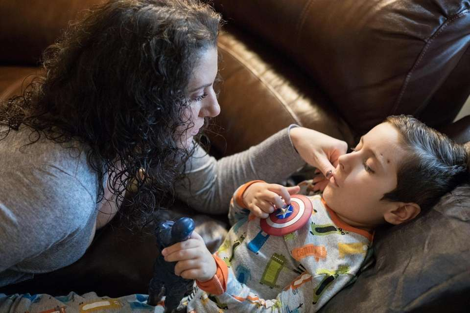 Tonni Anne Accardidia with her son Tyler Accardidia,7,