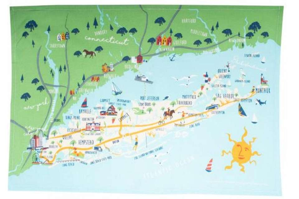 Decorate your kitchen with this Long Island map