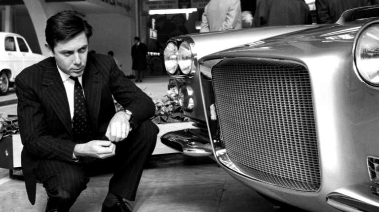 In this April 4, 1959 photo, Sergio Pininfarina