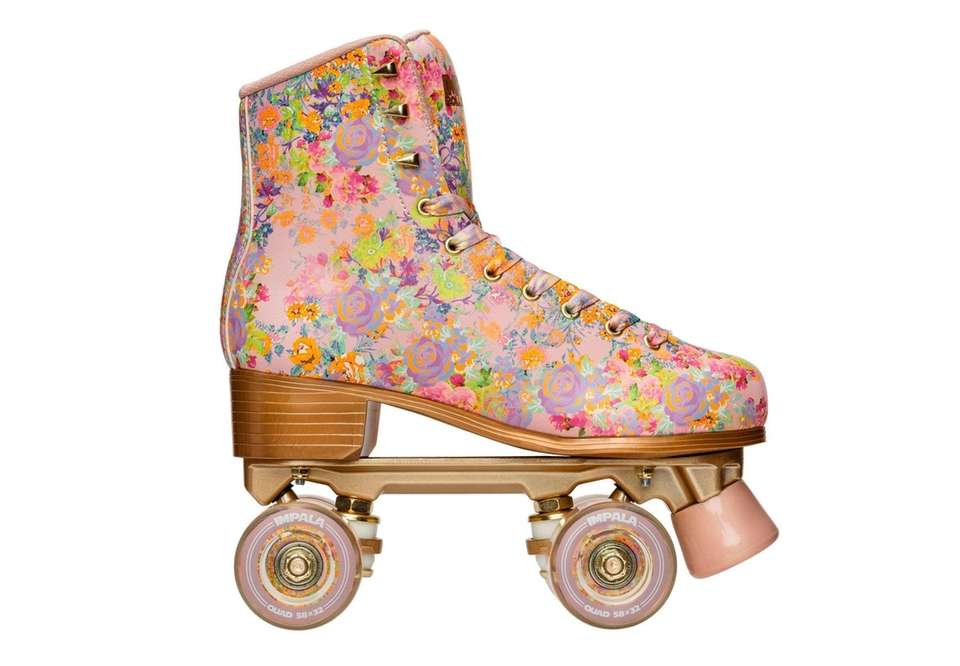 A pair of classic roller skates will roll